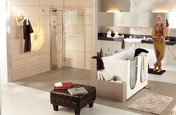l am nagement de la salle de bains pour une personne mobilit r duite. Black Bedroom Furniture Sets. Home Design Ideas
