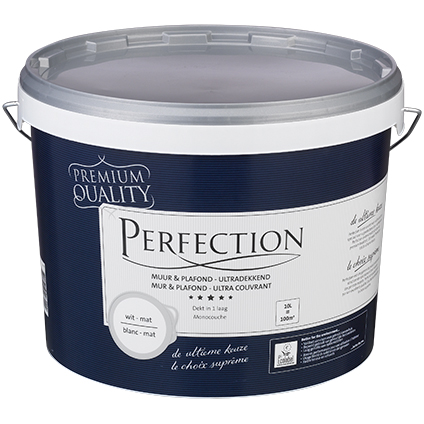 Perfection muurverf Muur & Plafond mat wit 10L