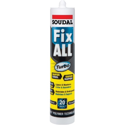 Colle polymère Soudal 290 ml 'Fix All' Turbo