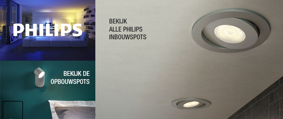 Philips spots prachtige led verlichting met stijl praxis for Led verlichting interieur
