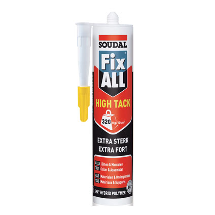 Soudal lijm 'Fix All High 'Tack' beige 290 ml