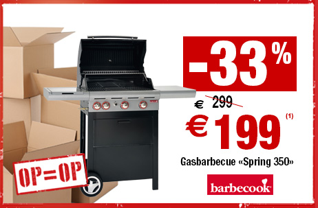 -33% op gasbarbecue Barbecook