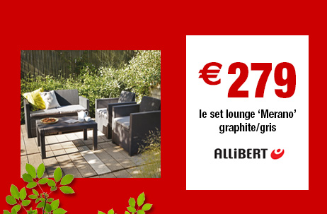Le salon de jardin Merano Allibert à €279