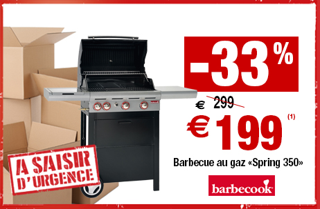 -33% sur le barbecue au gaz Barbecook