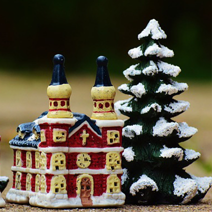 Image de Villages et figurines de Noël